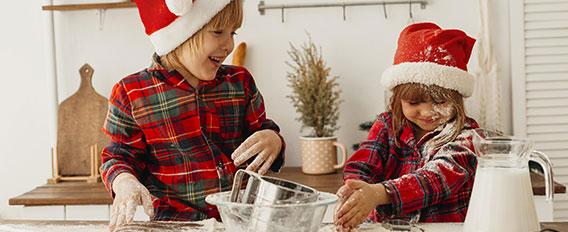 Biscuits de Noël en famille